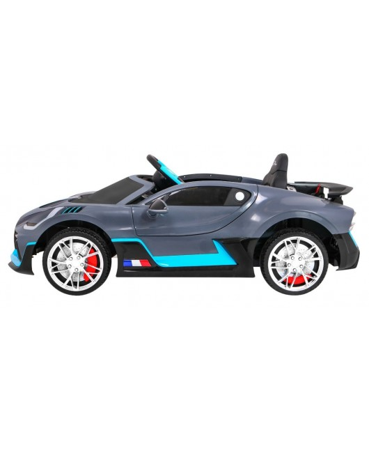 Elektrické autíčko Bugatti Divo sivé